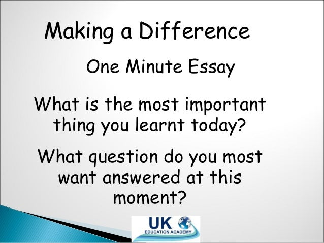 make a differnce essay