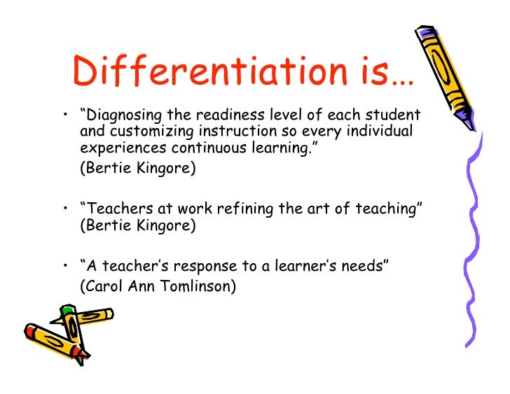 Differentiation For High Ability Learners