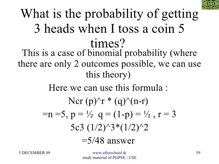 Toss a coin 3 times what is probability of heads / Airswap