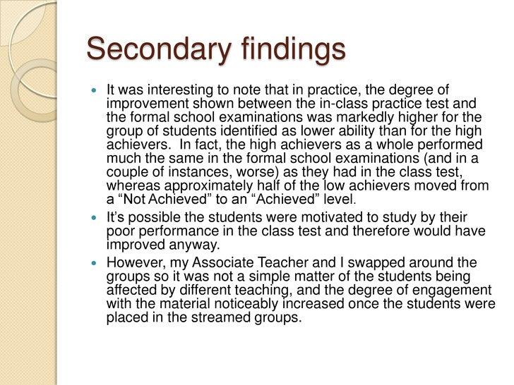 Differentiation in the senior mathematics classroom