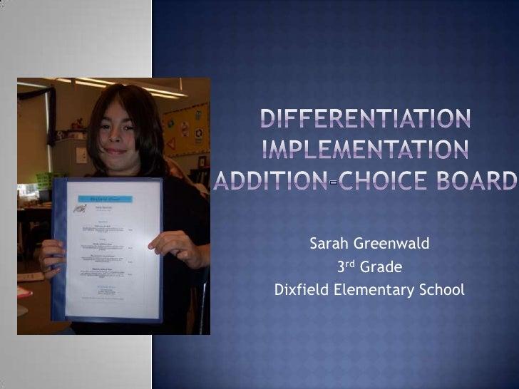 Sarah Greenwald          3rd Grade Dixfield Elementary School