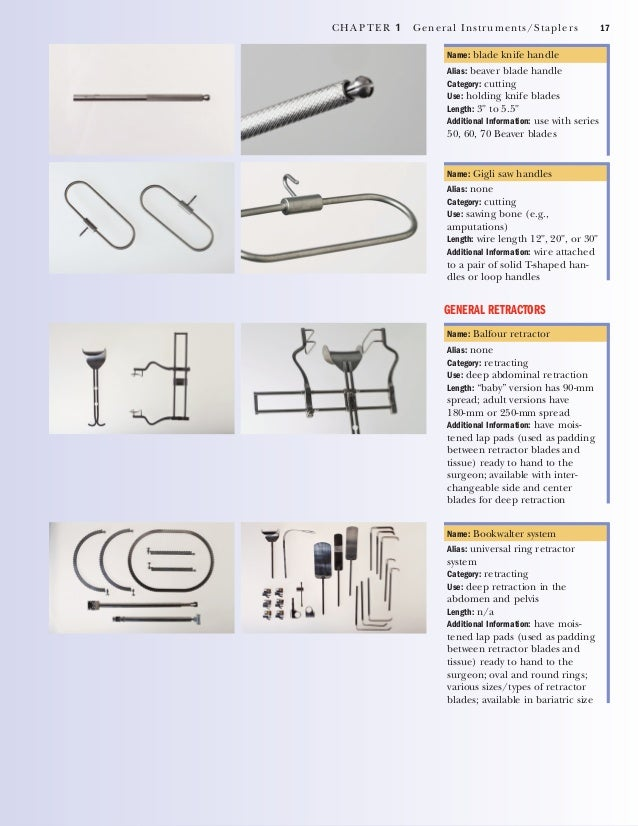 18 CHAPTER 1 General Instruments/Staplers Name: Omni retractor Alias: Omni-tract system Category: retracting Use: exposing...