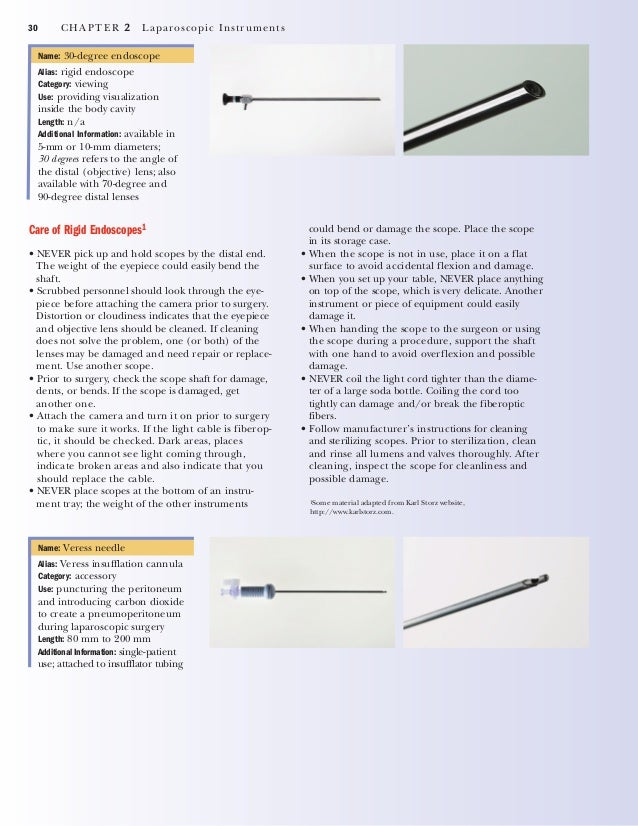 CHAPTER 2 Laparoscopic Instruments 31 Name: disposable trocars and ports Alias: none Category: accessory Use: introducing ...