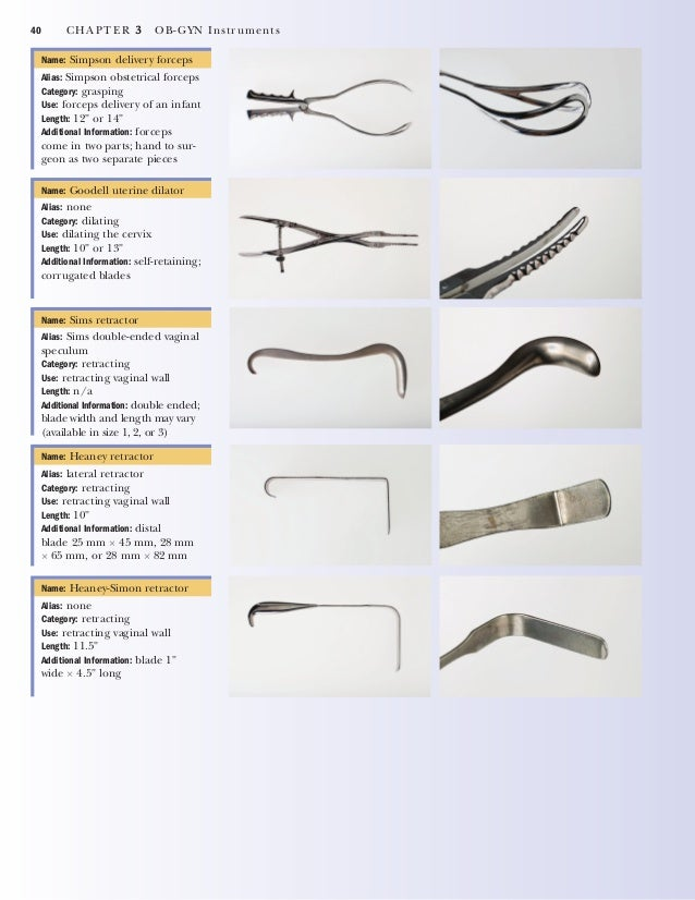 CHAPTER 3 OB-GYN Instruments 41 Name: Hulka tenaculum with sound Alias: none Category: grasping Use: measuring cervix/uter...