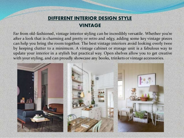 Different interior styles for Different interior design styles