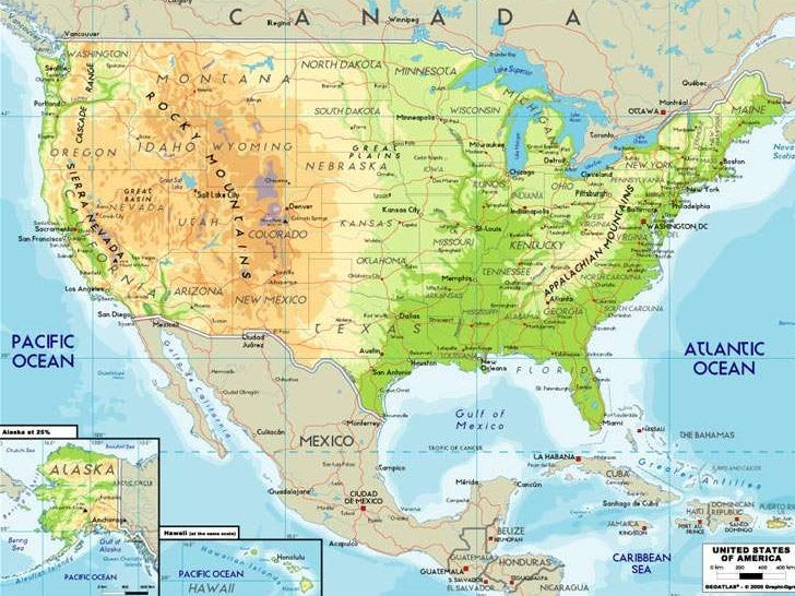 Different Kindsofmaps - Different maps of the us