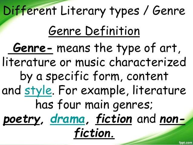 genre in literature definition