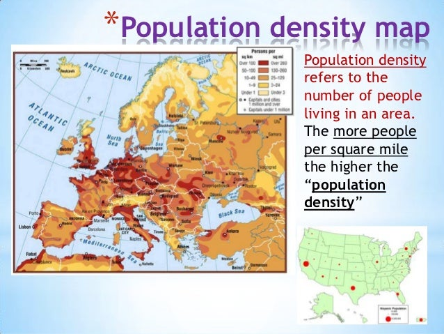 ... Europe; 5. *Population Density Map ...