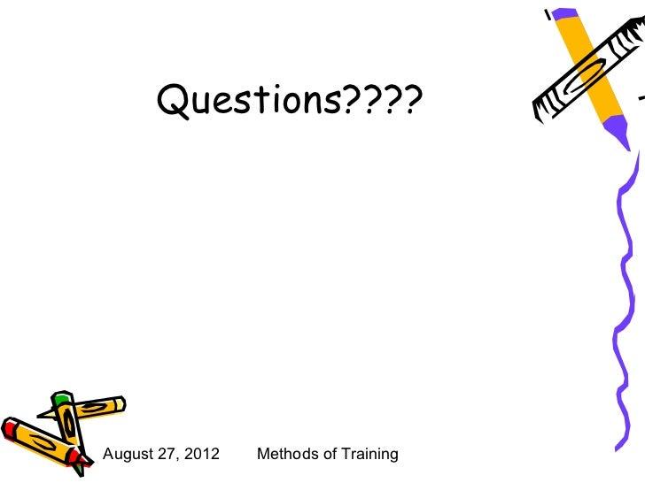 Different methods of training
