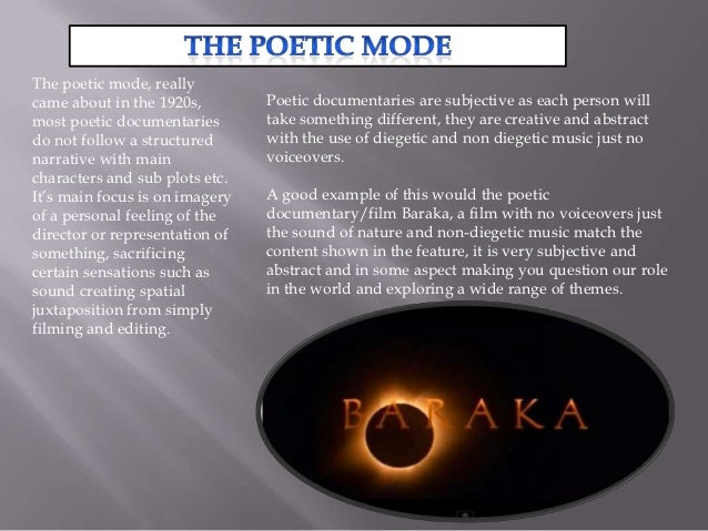 different modes of documentary