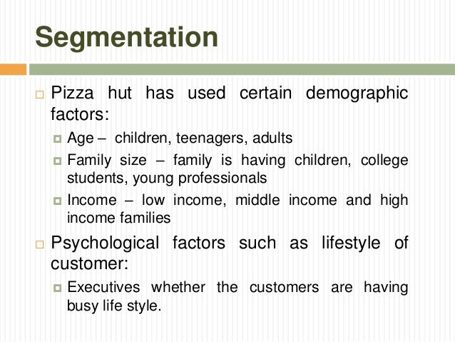 pizza hut macro environmental factors Free research that covers of pizza hut in uk of pizza hut introduction pizza hut is   micro environment is the external factors that directly affect the operations of.