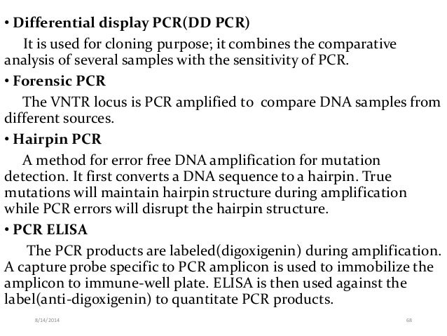 Different pcr techniques and their application