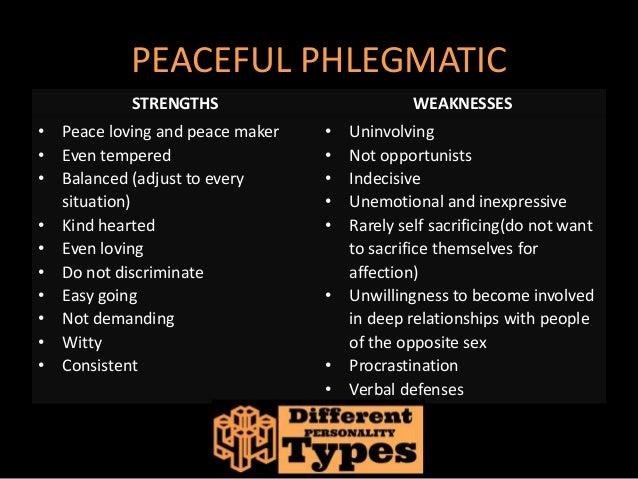 Phlegmatic characteristics