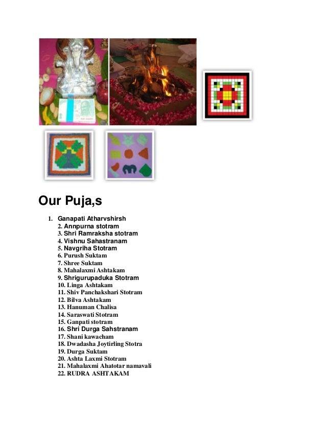 Different puja details