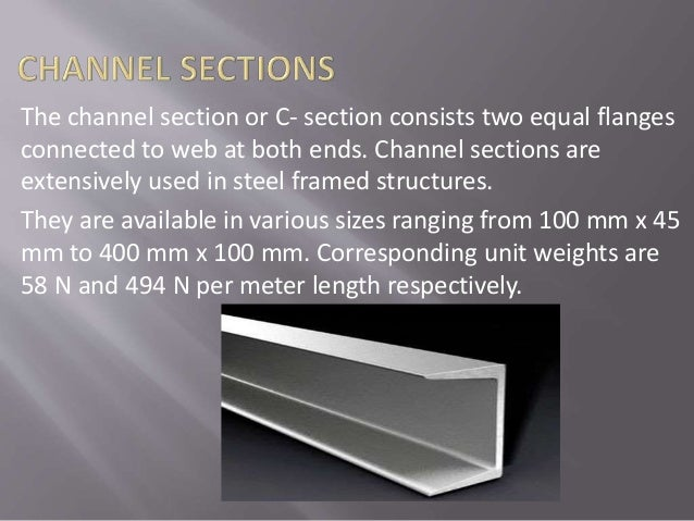 Different rolled steel bars and sections