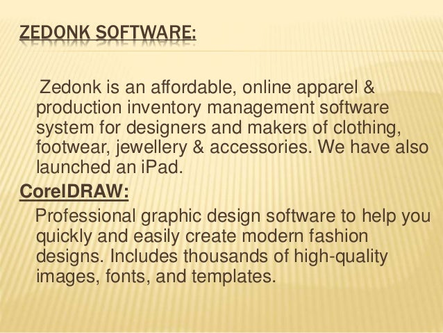 Different software use for textile design