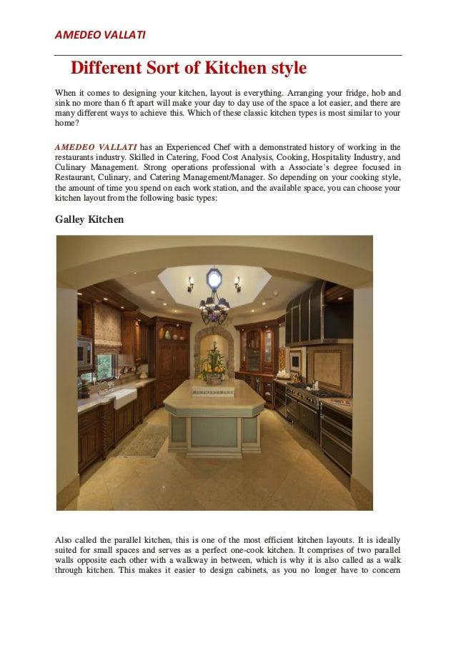 Principal Of Kitchen Design By Amedeo Vallati