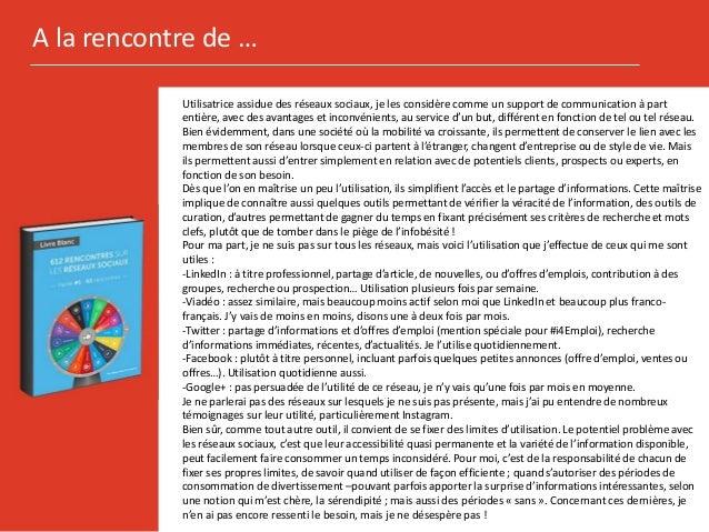 Differents reseaux pour differents usages   isabelle poizot - 612 rencontres sur les reseaux sociaux Slide 2