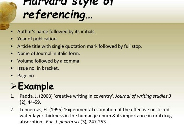 harvard style referencing template - different style of referencing