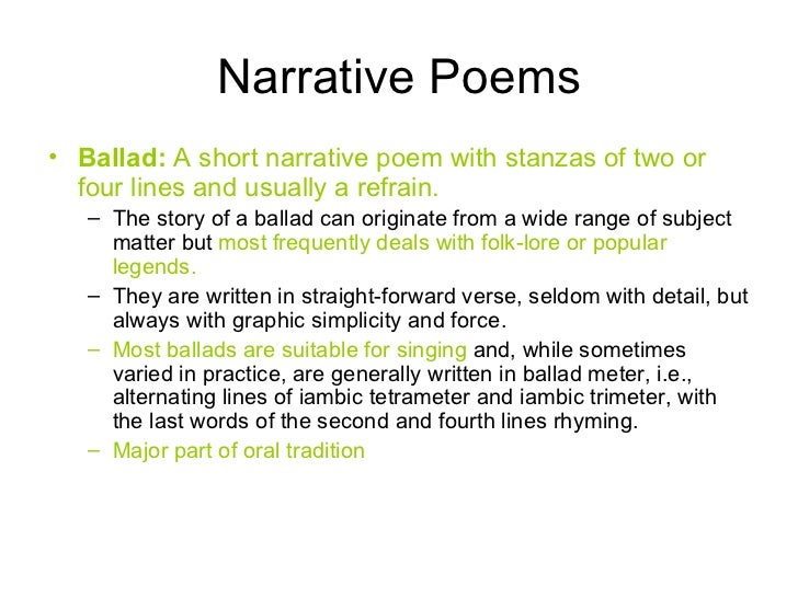 narrative poem examples - photo #5