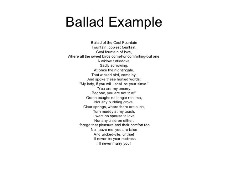 How to write a ballad poems wikipedia