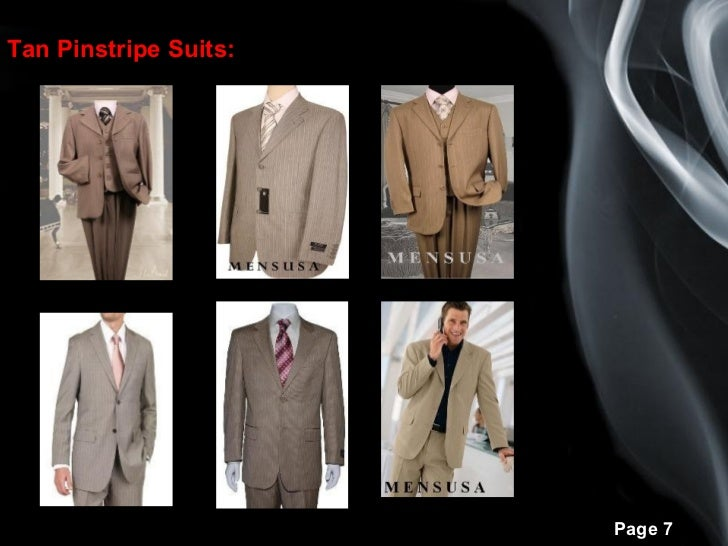 Different types mens pinstripe suits