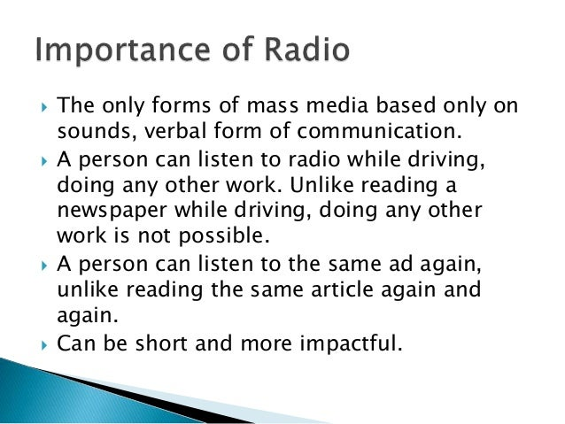 Development of mass media types