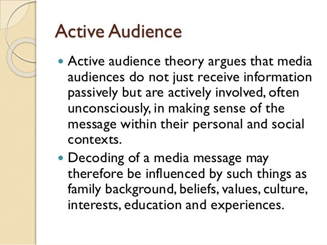 Different types of audience