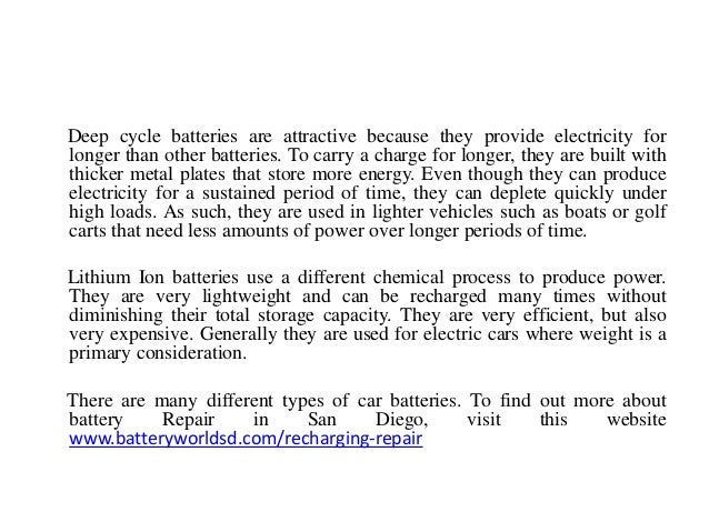 Different Types of Batteries for Your Car
