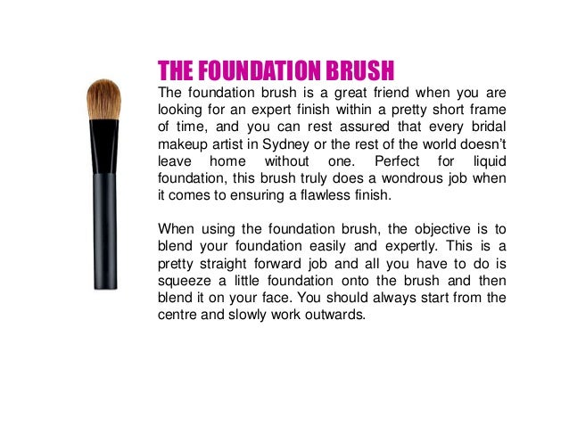 Types of makeup brushes foundation saubhaya makeup for Types of foundation and their uses