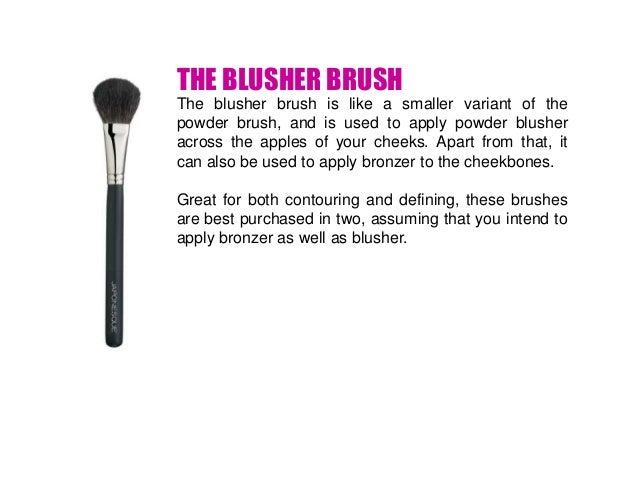 THE BLUSHER BRUSH ...