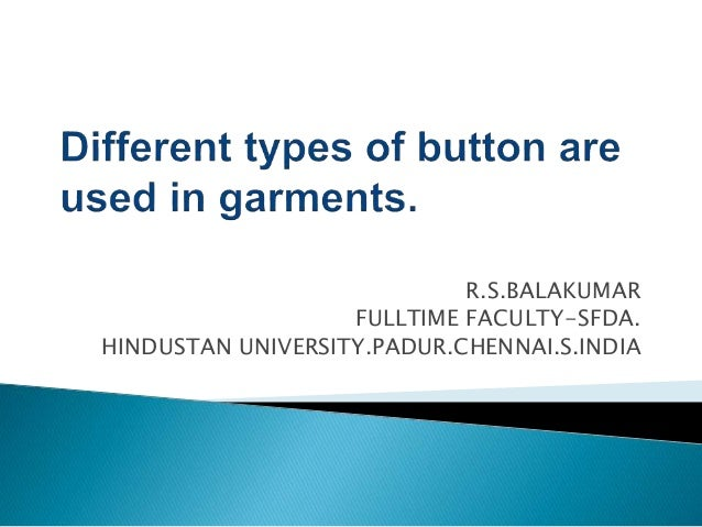 R.S.BALAKUMAR FULLTIME FACULTY-SFDA. HINDUSTAN UNIVERSITY.PADUR.CHENNAI.S.INDIA