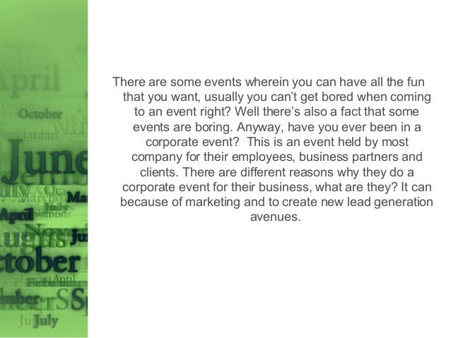 Different Types Of Corporate Events - Type-of-corporate-events