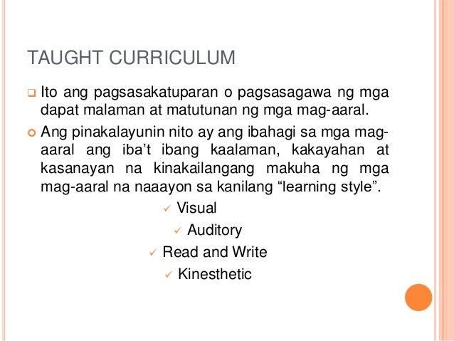 Different types of curriculum