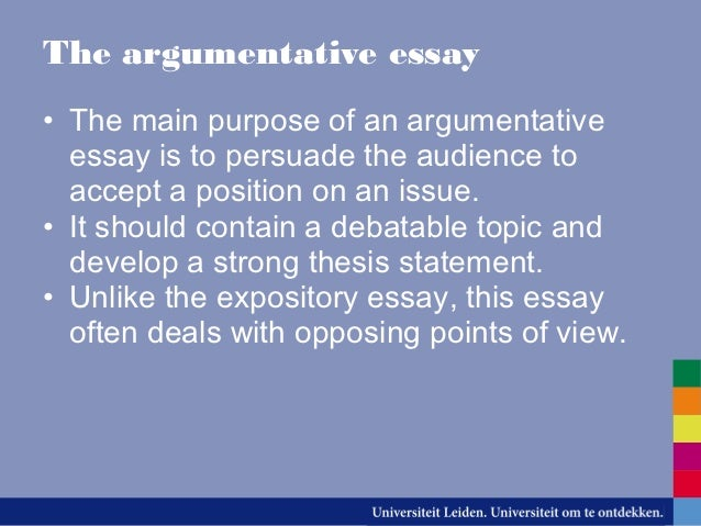 different types of essays 10 the argumentative essay•
