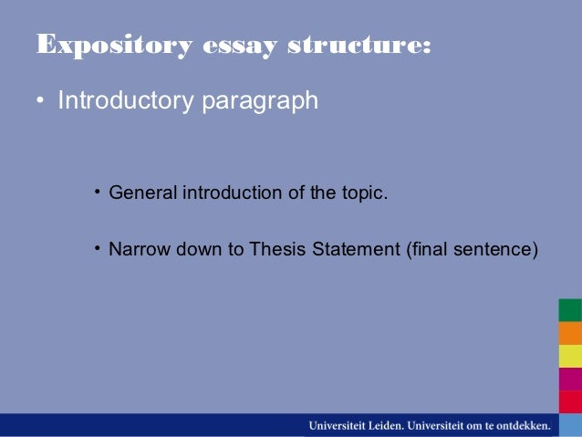 different types of essays 4 expository essay structure • introductory