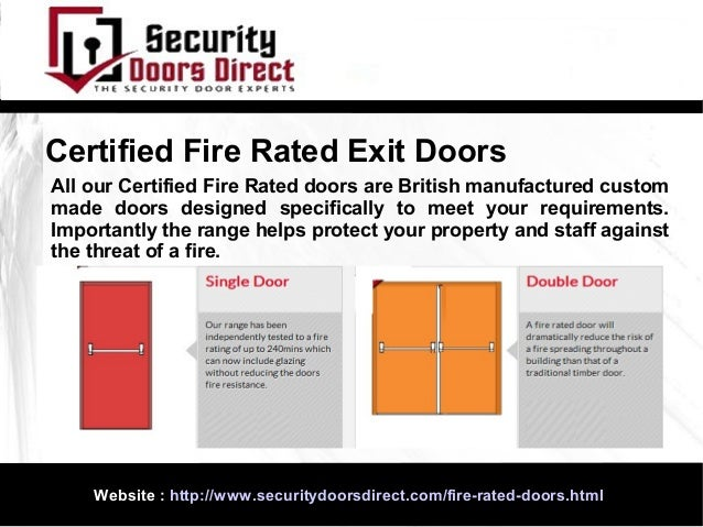 ... 4. Certified Fire Rated Exit Doors ...