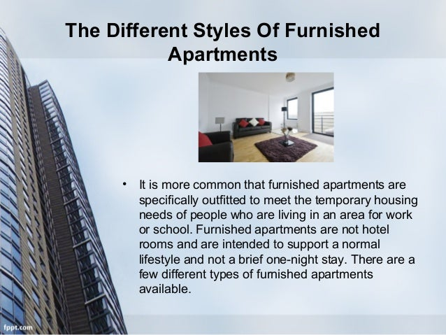 Different Types Of Furnished Apartment Rentals