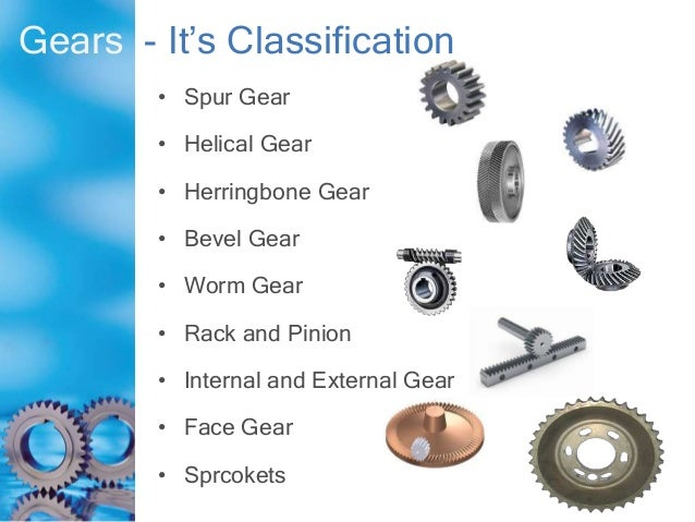 Different types of gear & maintenance By Md  Raijul Islam