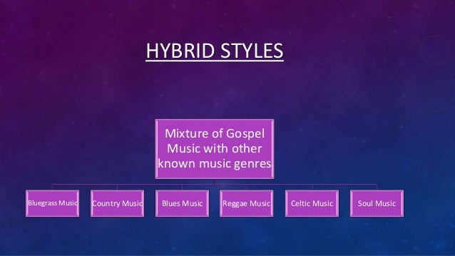 Different types of gospel music