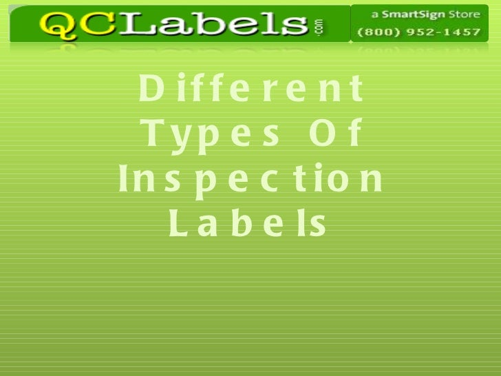 Different Types Of Inspection Labels