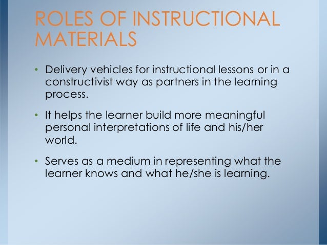 different types of instructional media