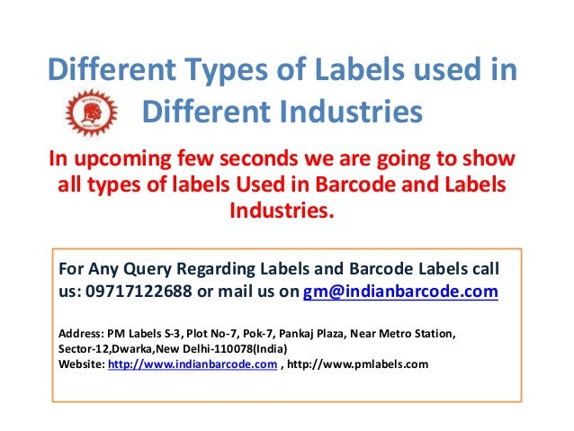 Different Types Of Labels Used In Label Industries
