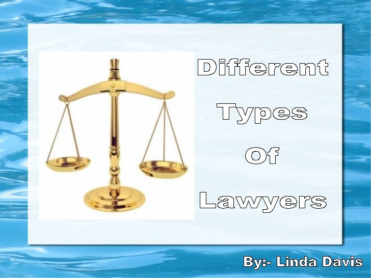 IntroductionAs you all may know, there are various types of lawyers, doing legal  practice in different specialized arenas...
