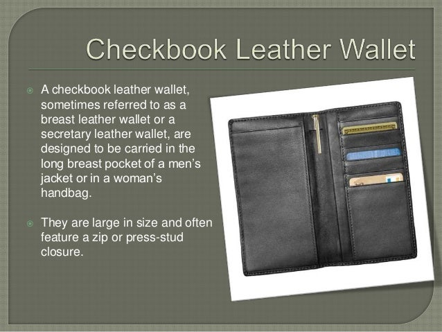 different types of leather wallets for men