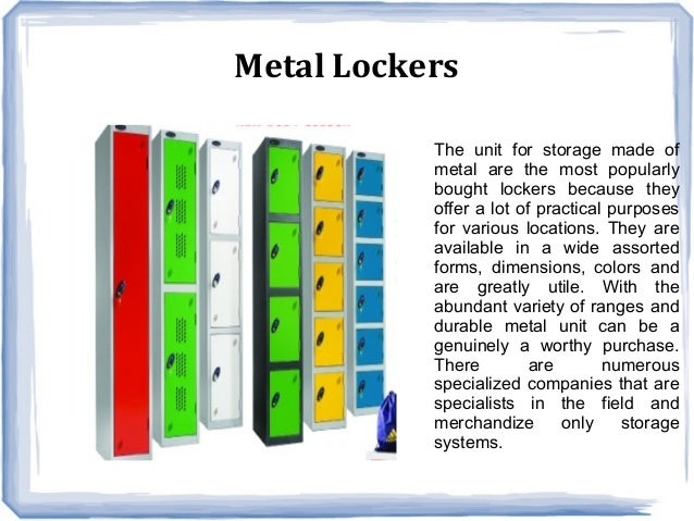 Different Types Of Lockers And Their Features