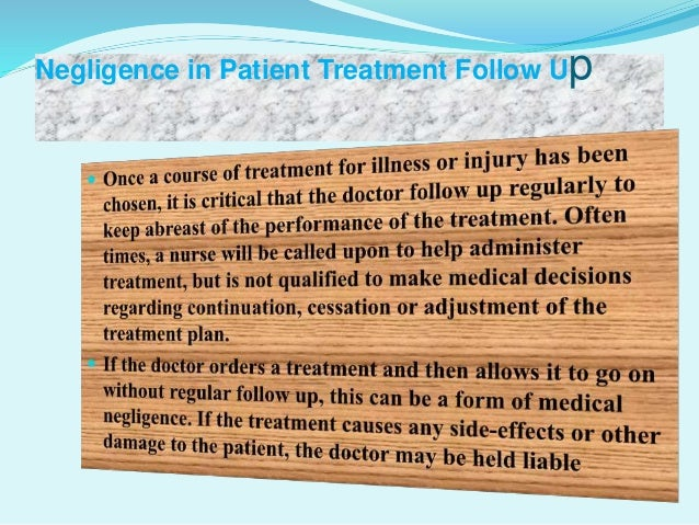 Different types of medical negligence