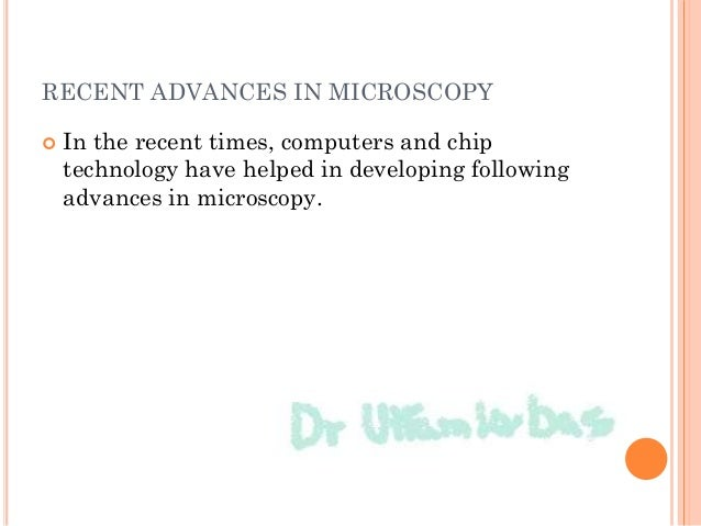 Different types of microscopes