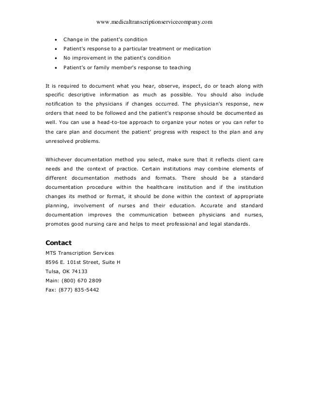 Different Types of Nursing Documentation Methods