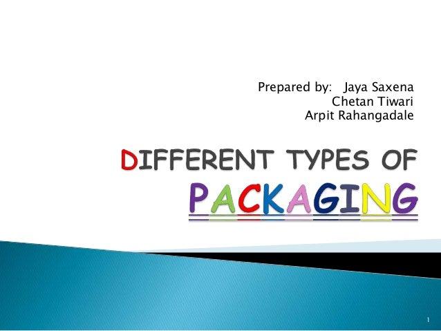 Prepared by: Jaya Saxena Chetan Tiwari Arpit Rahangadale 1
